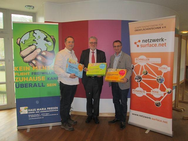 v.l.: Achim Gilfert, Dr. Ulrich Irle, Peter Huyeng